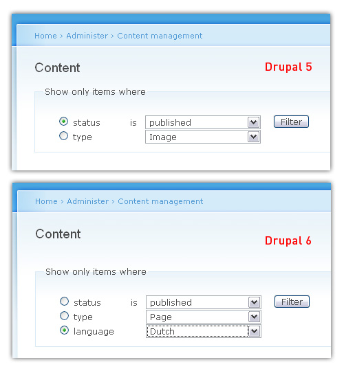 multi-language support drupal 5 versus drupal 6