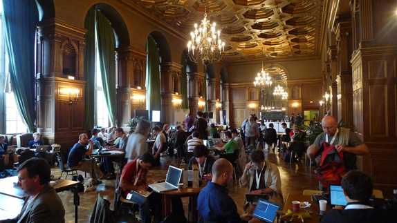Inside the DrupalCon venue