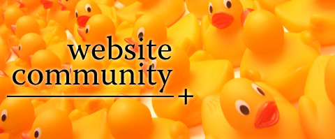 Website community